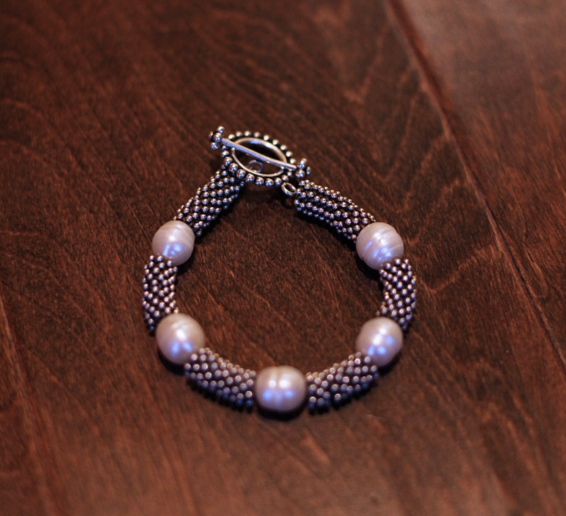 Sterling Silver & Pearl Bracelet