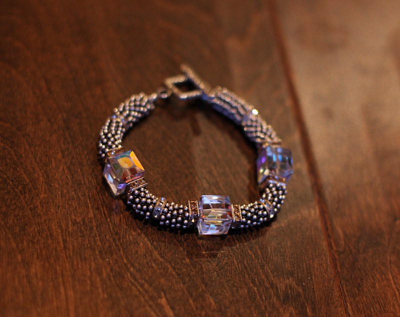 Silver & Swarovski Crystal Bracelet