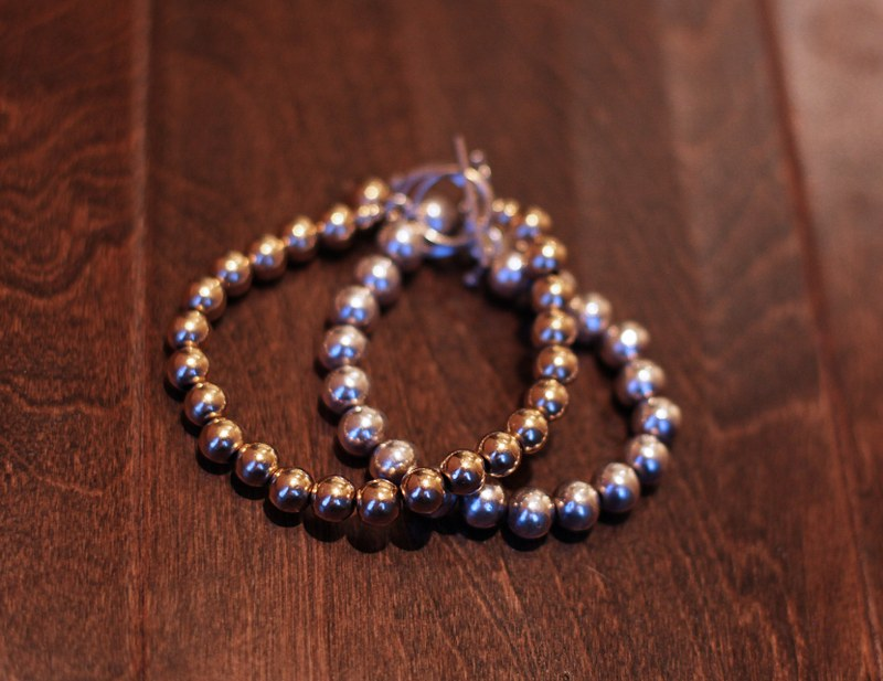 Small Silver Bead Bracelet (small beads)